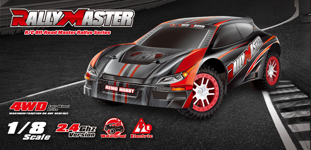 NO:8085 1/8 BRUSHLESS RALLY MASTER RACER - Remo Hobby