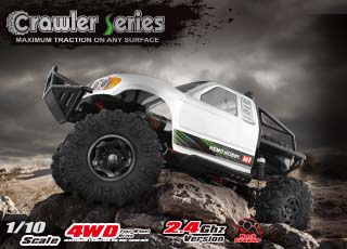 1/10 SCALE ELECTRIC 4WD 2.4GHZ RC OFF-ROAD BRUSHED ROCK CRAWLER TRUCK(#1093-ST)