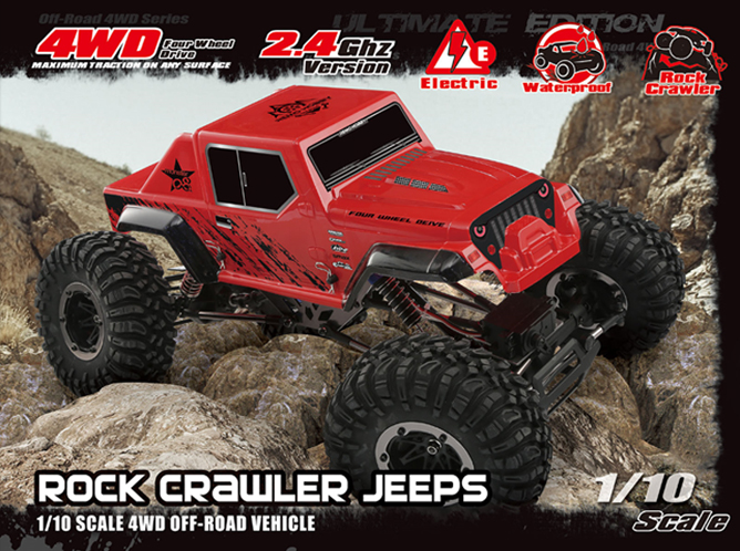 NO:1071-SJ 1/10 4WS BRUSHED ROCK CRAWLER